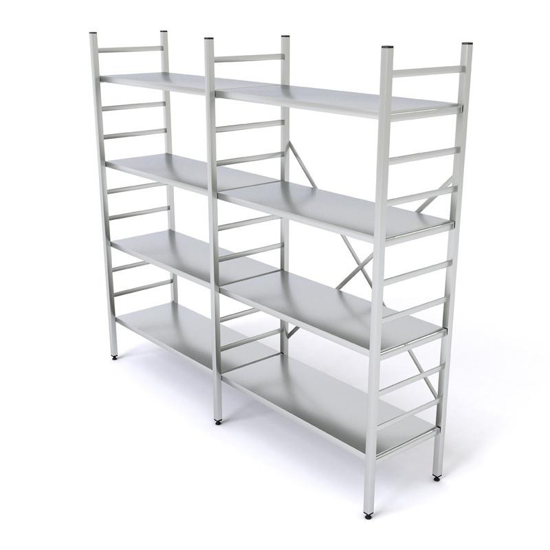 Gut gemocht Aluminium Regal-Kombination L20, 8 Böden, glatt, 1800 x 400 mm DF58